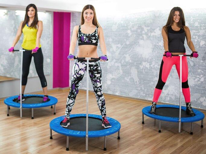 jumping fitness: training und abnehmen mit dem trampolin  myself