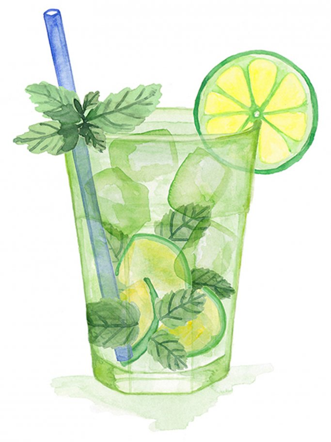 Illustration eines Mojitos | © Once