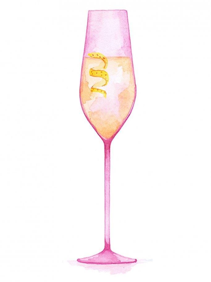 Illustration eines Champagners | © Once