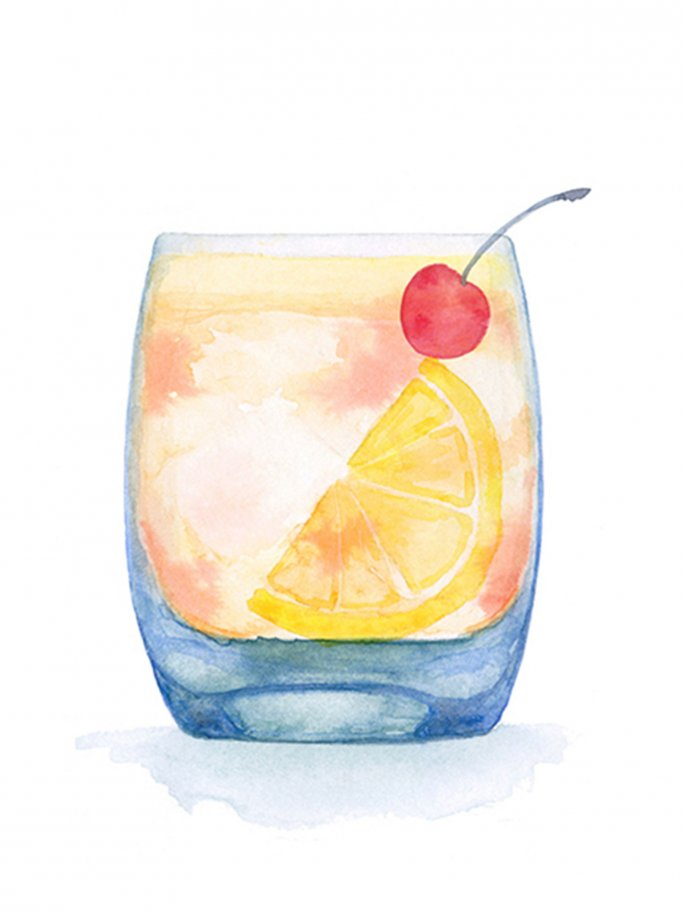 Illustration eines Whiskey Sour | © Once