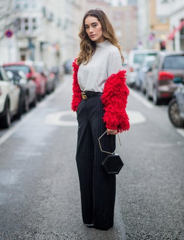 Streetstyle mit Marlene Hose | © Getty Images | Christian Vierig