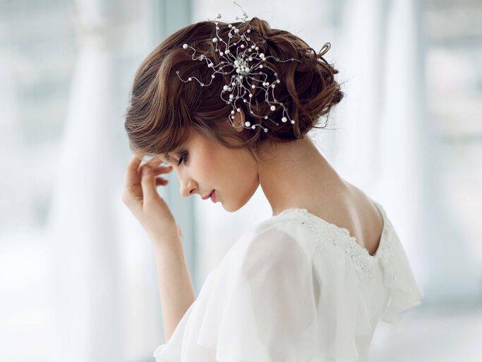 Haare brautfrisuren mit diadem kurze Brautfrisur kurze