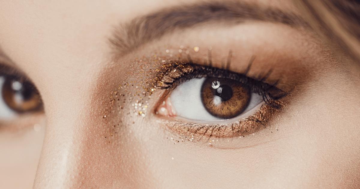 Augen dunkle schminken blaue haare Schminktipps braune