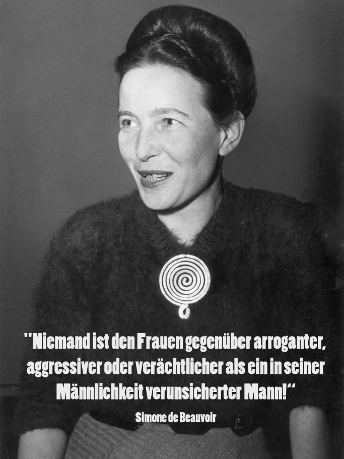Zitat von Simone de Beauvoir | © Getty Images | Hulton Archive