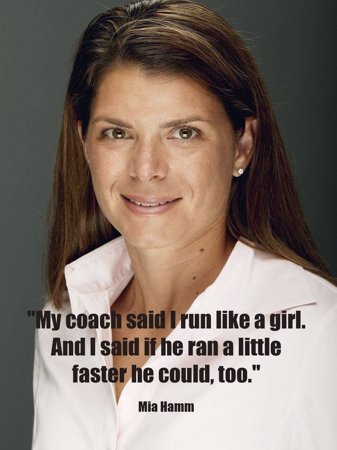 Mia Hamm Zitat | © Getty Images | Matthew Stockman